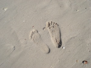 footsteps on the sands of time